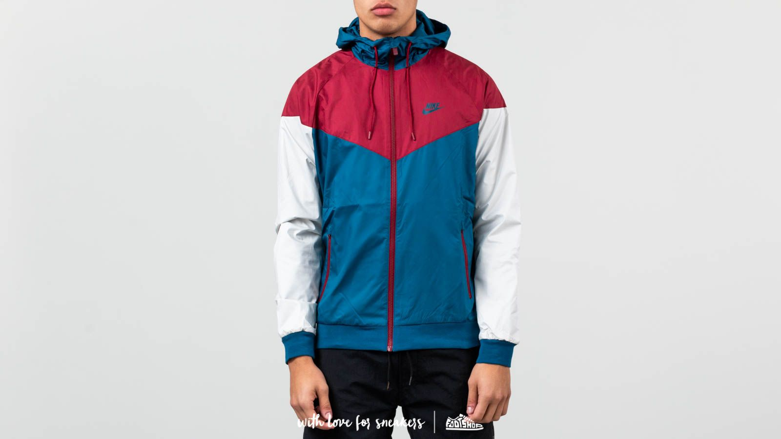 Nike Sportswear Windrunner Jacket Blue Force Team Red Light Bone Blue Force | Footshop