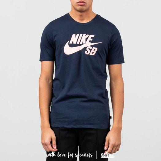 Nike SB Logo Men's T Shirt Obsidian Obsidian Oracle Pink | Footshop