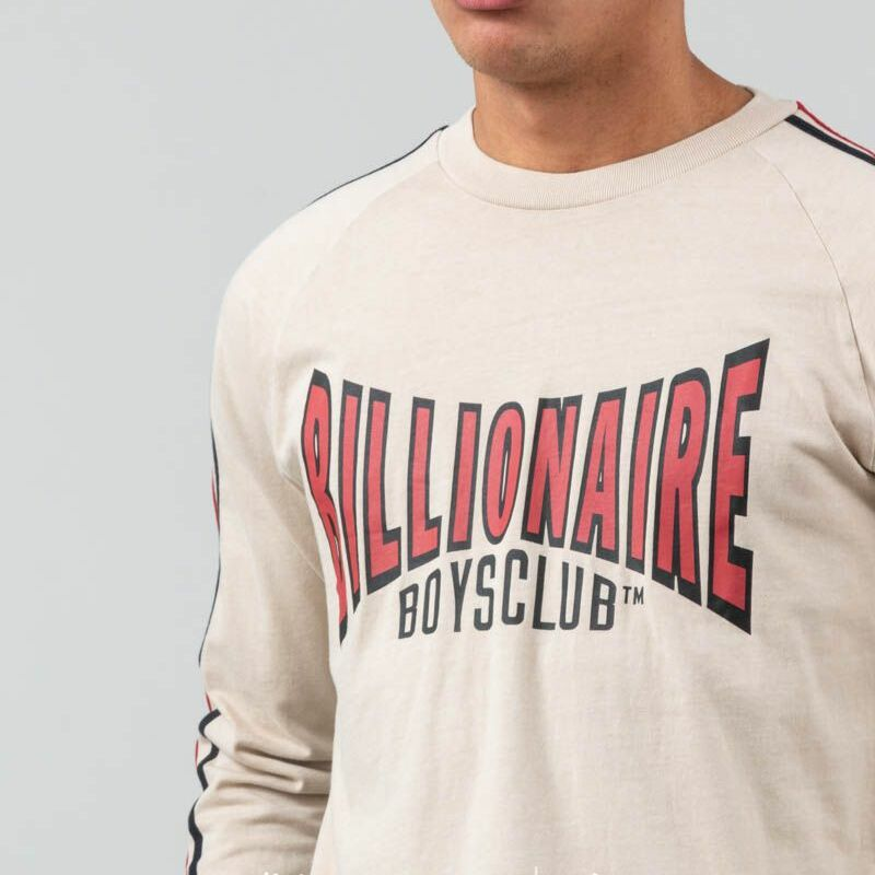Billionaire Boys Club Racing Long Sleeve T-Shirt Off-White, Brown