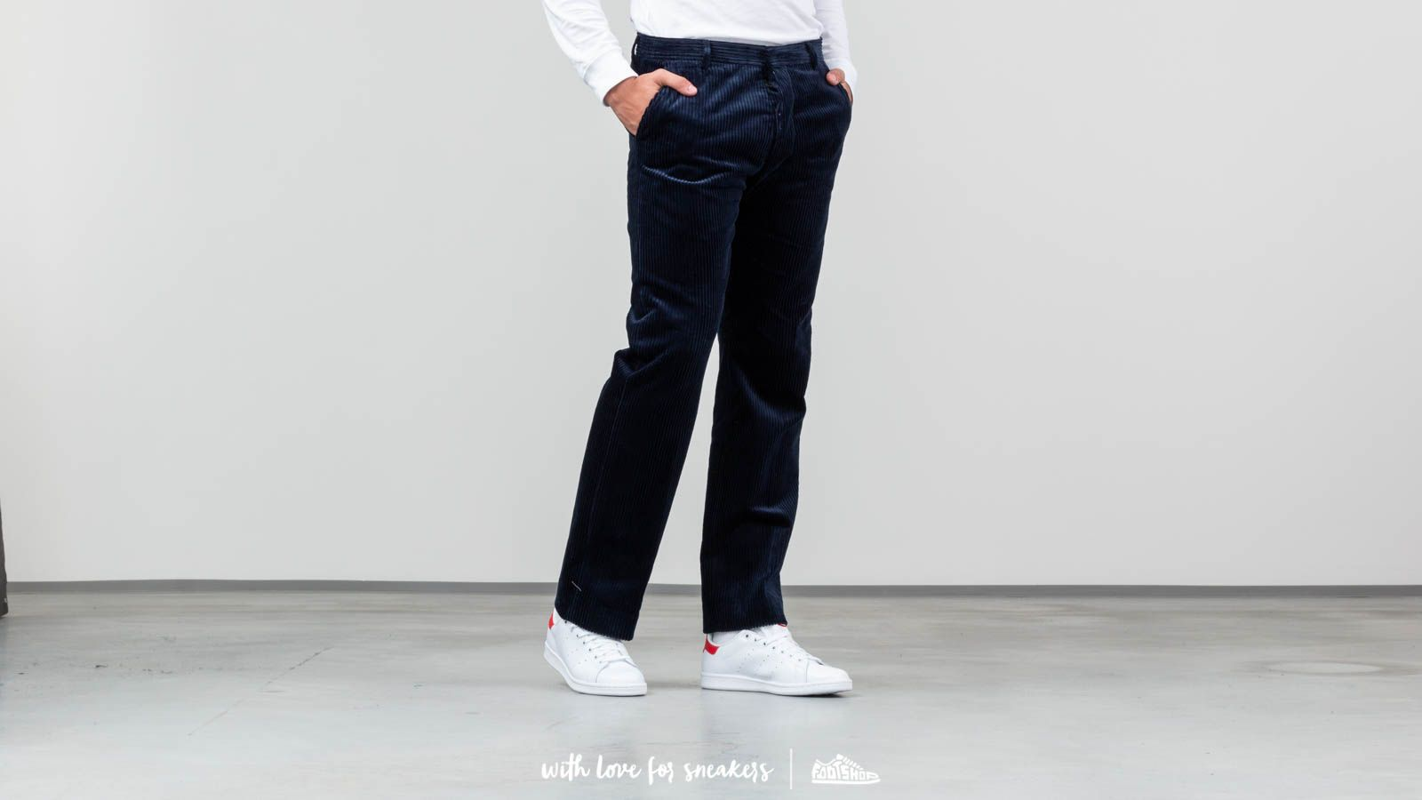 Hlače in kavbojke Alexandre Mattiussi Straight Fit Pants Navy