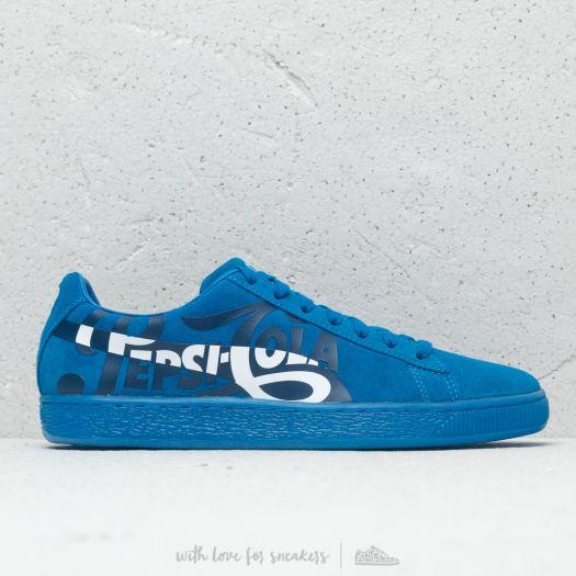 buy popular e4850 1c1db Puma x Pepsi Suede Classic Clean Blue/ Puma Silver | Footshop