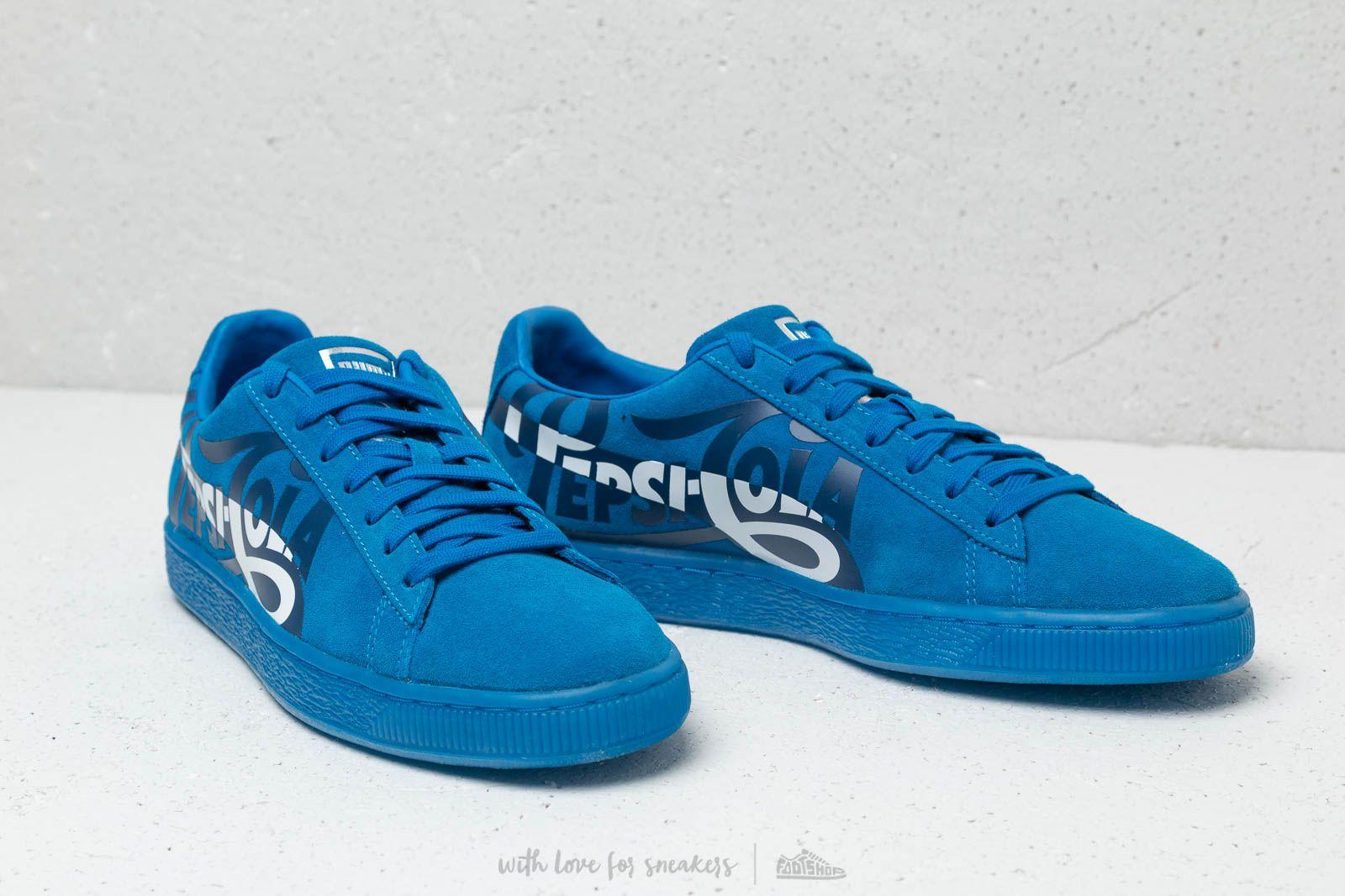 Puma x Pepsi Suede Classic Clean Blue Puma Silver | Footshop