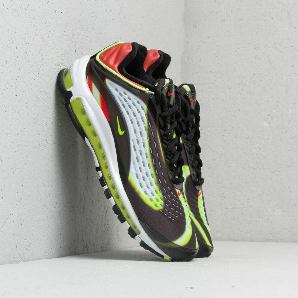 Nike Air Max Deluxe Black/ Volt-Habanero Red-White EUR 42.5