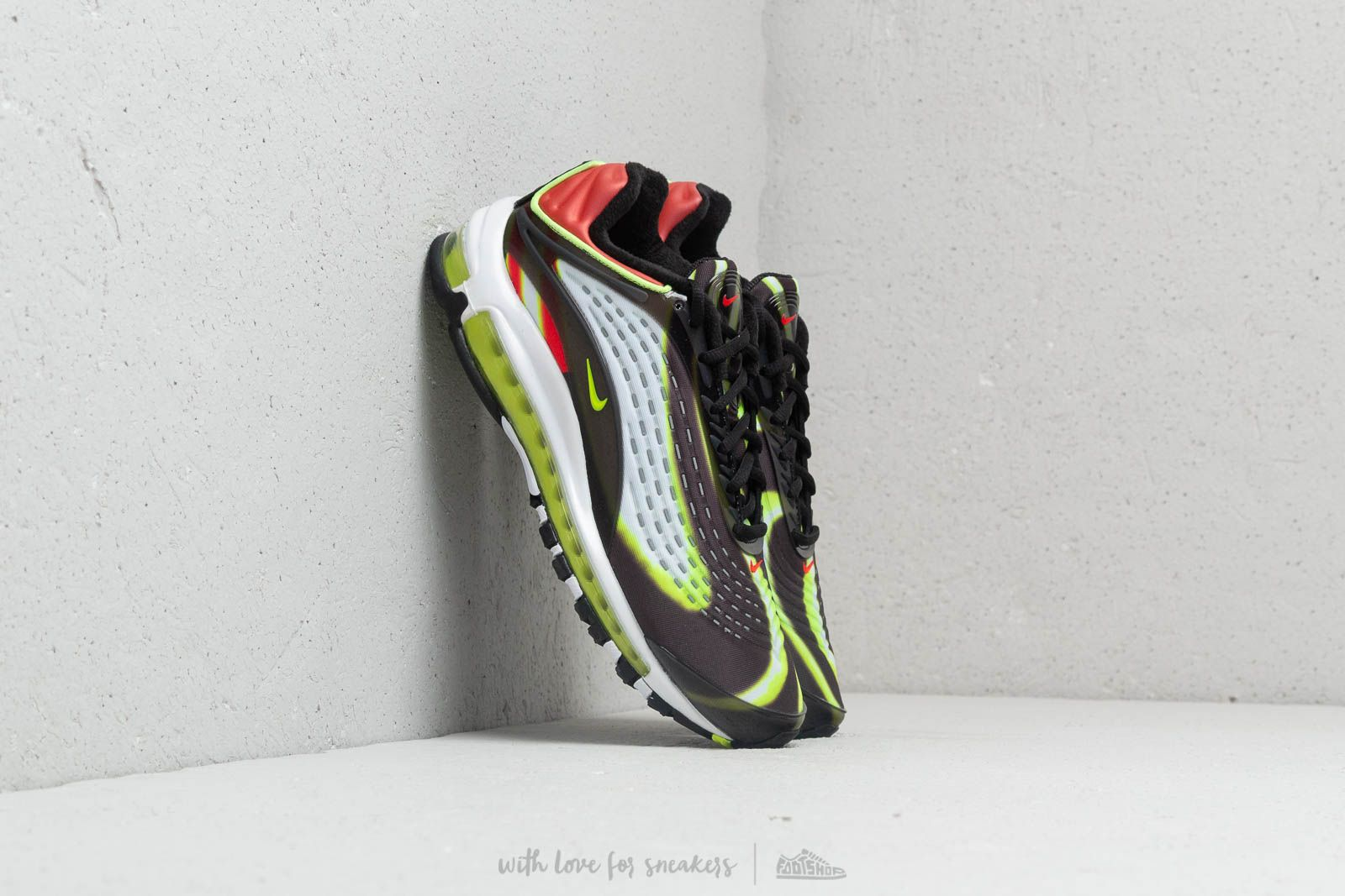 Nike Air Max Deluxe Black Volt Habanero Red White | Footshop