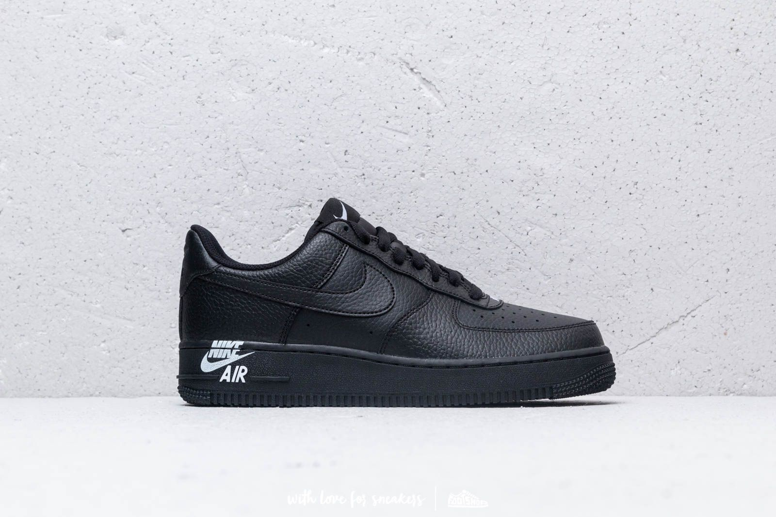 uk availability 3ce0b e5503 Nike Air Force 1  07 Leather Black  Black-White at a great price
