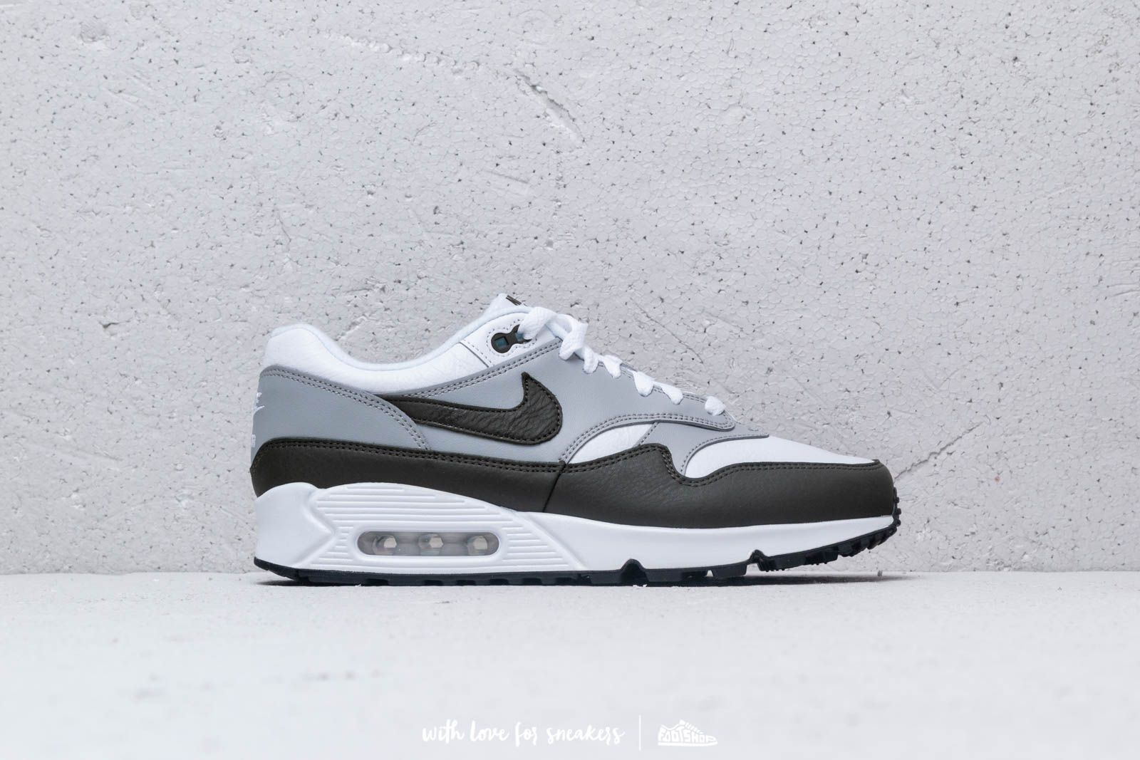 f6a4ba545a6bed Nike Air Max 90 1 White  Cargo Khaki-Black at a great price