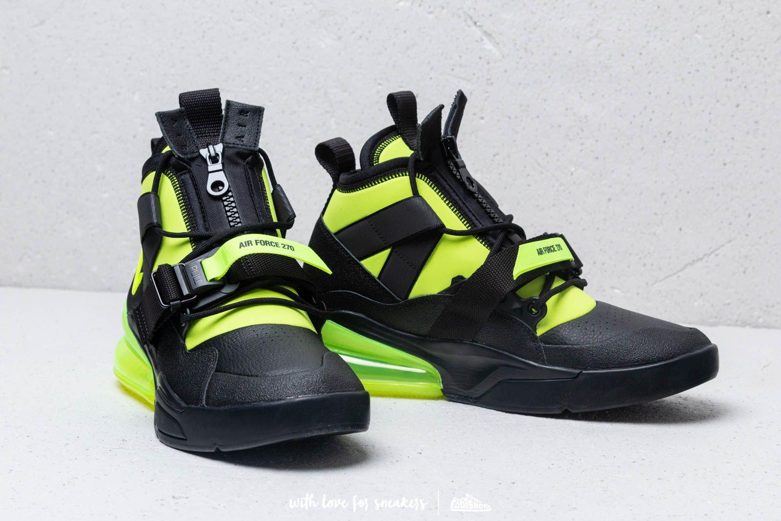 Nike Air Force 270 Utility Black Volt | Footshop