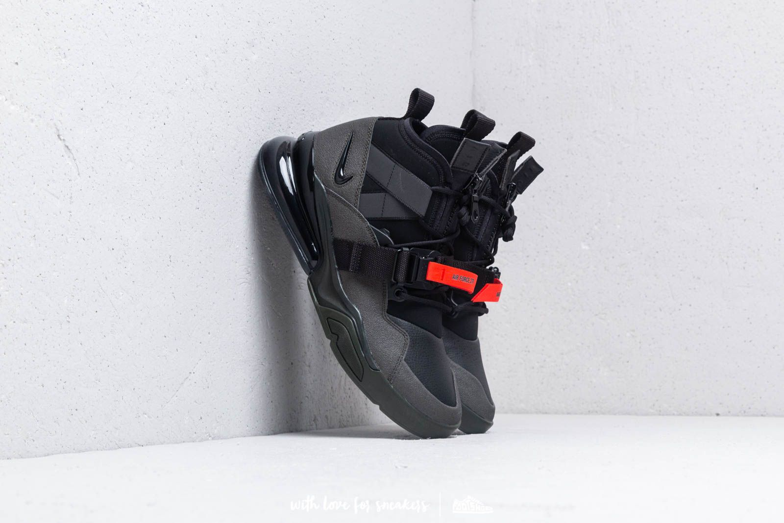 b6d12c632668 Nike Air Force 270 Utility Sequoia  Black-Habanero Red