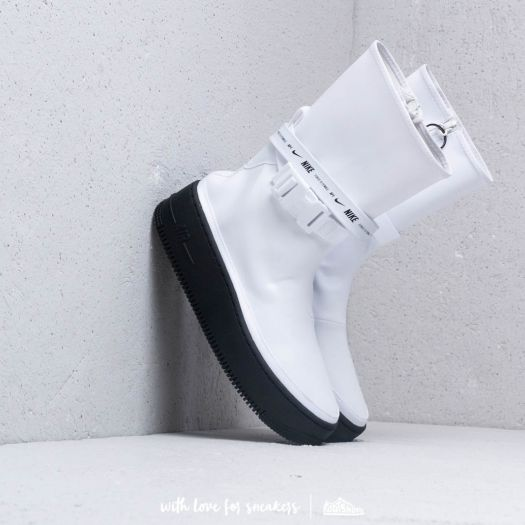 Nike W Air Force 1 Sage Hi White White Black | Footshop
