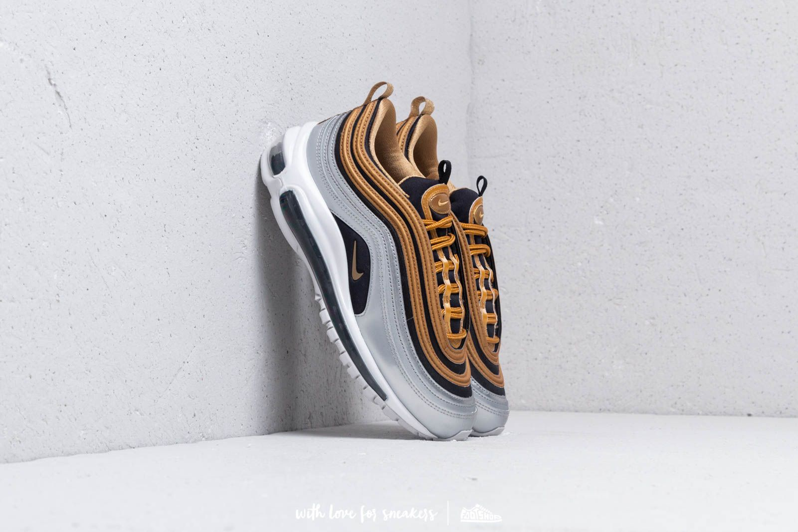nike air max 97 metallic gold on feet
