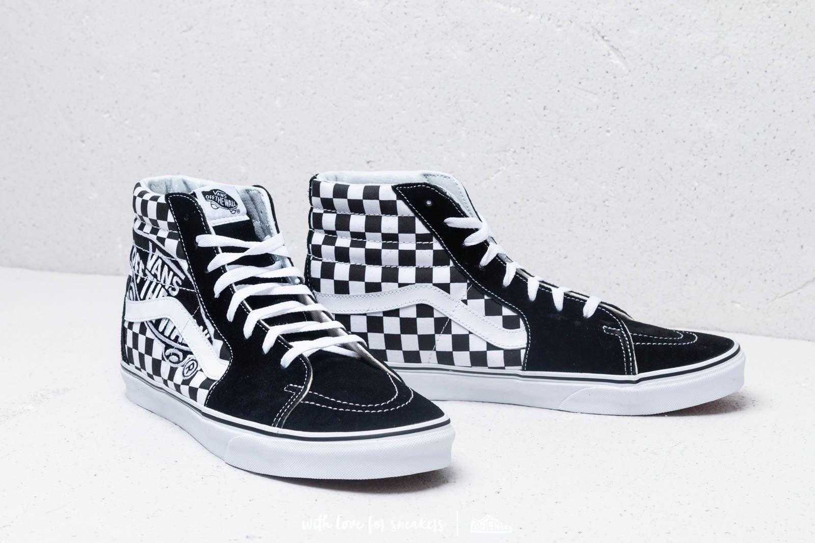 Vans Sk8 Hi (Vans Patch) Black True White | Footshop