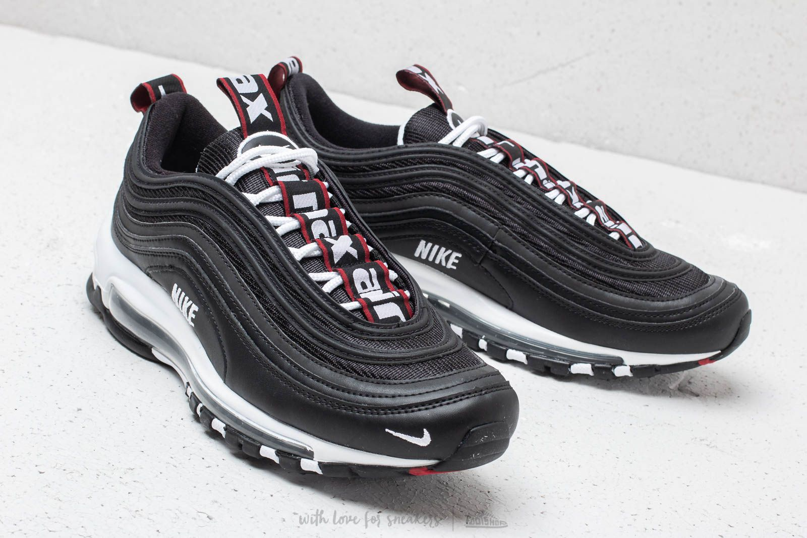 outlet store 0c038 00fed Nike Air Max 97 Premium Black/ White/ Varsity Red | Footshop