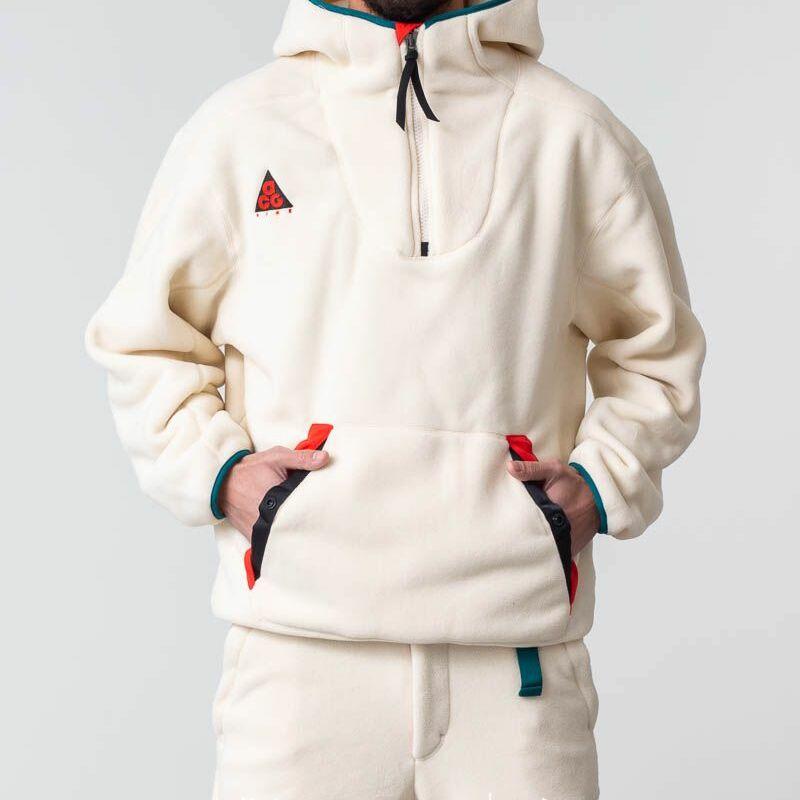 Nike ACG Sherpa Fleece Hoodie Light Cream, White