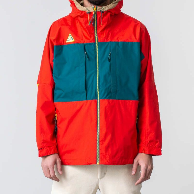 Nike Sportswear ACG Anorak Habanero Red/ Geode Teal/ Parachute Beige/ Bright Citron