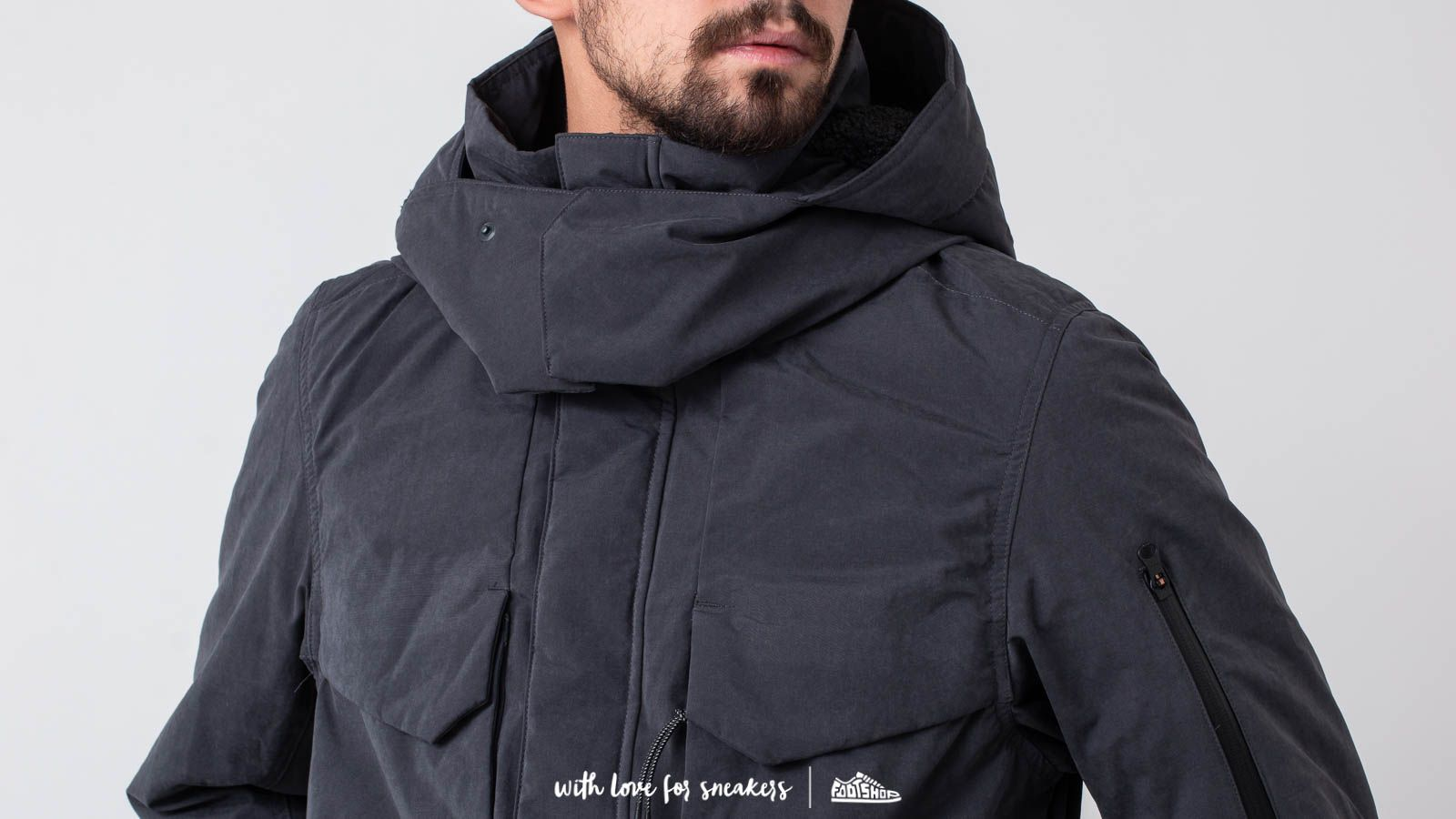 Nike Tech Pack Down Fill Parka Dark Ash Black Black | Footshop