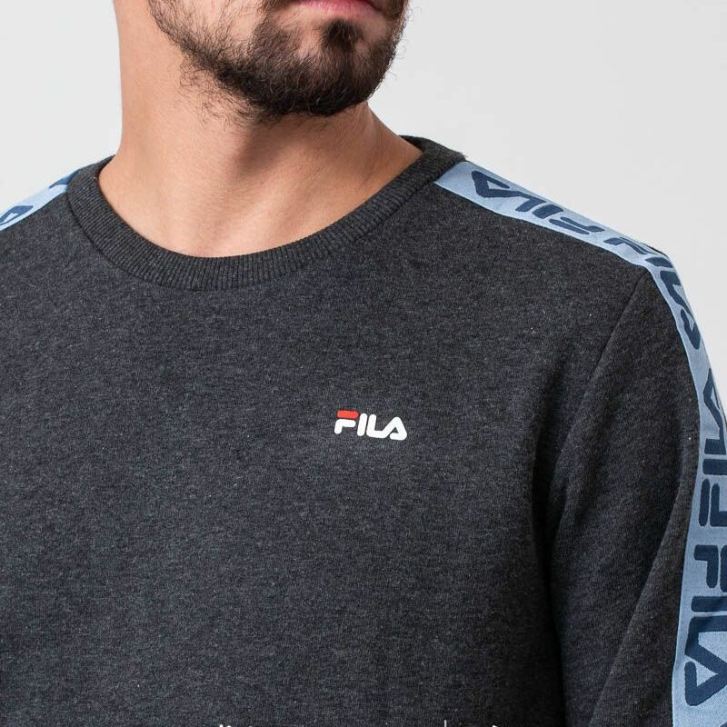 FILA Aren Crewneck Dark Grey Melange, Gray