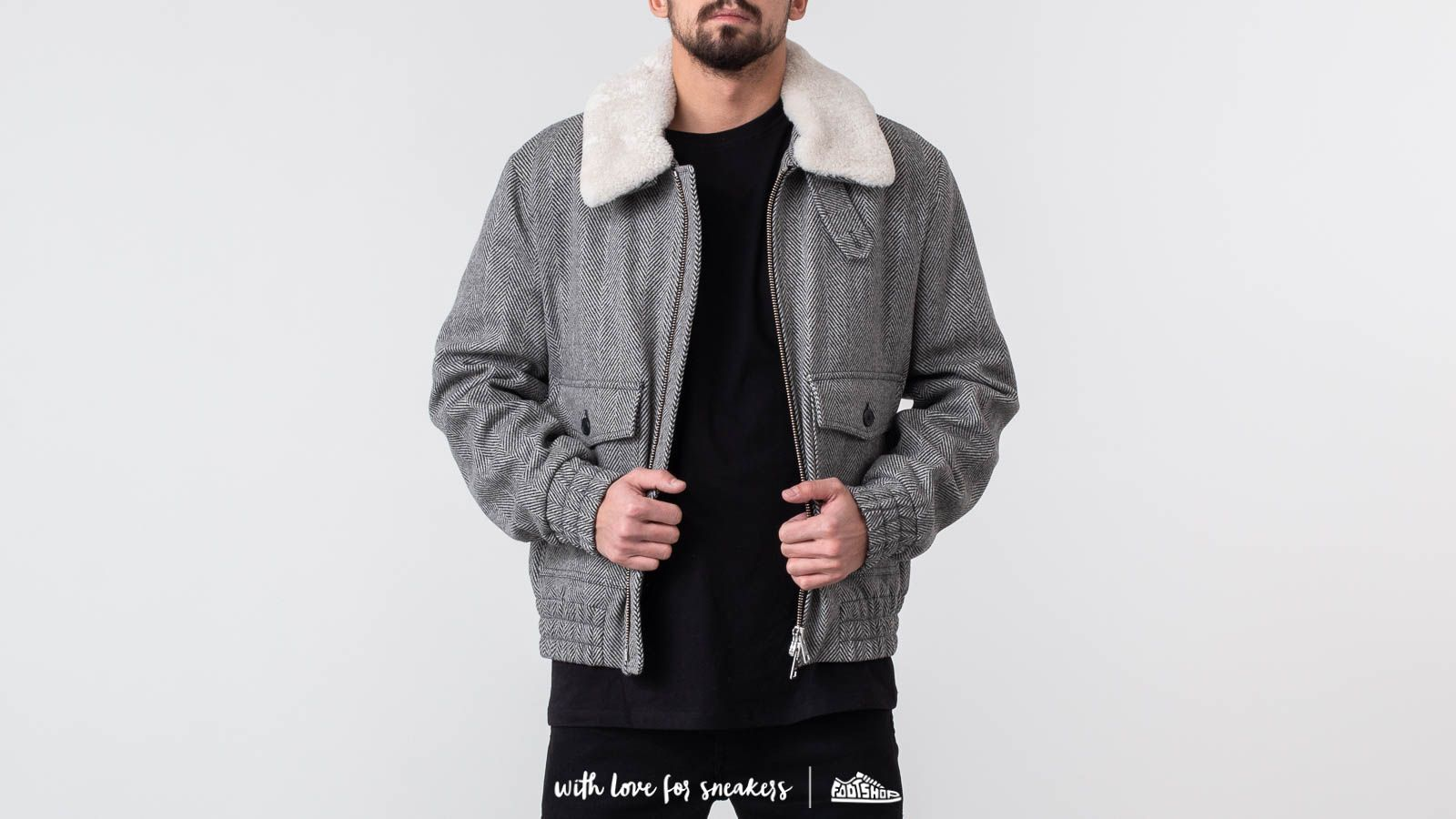 Alexandre Mattiussi Shearling Collar Zipped Jacket