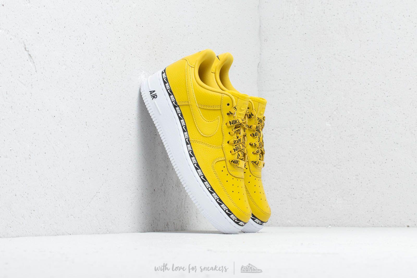 los angeles f4724 04e2a Nike Wm s Air Force 1  07 SE Premium Bright Citron  Bright Citron