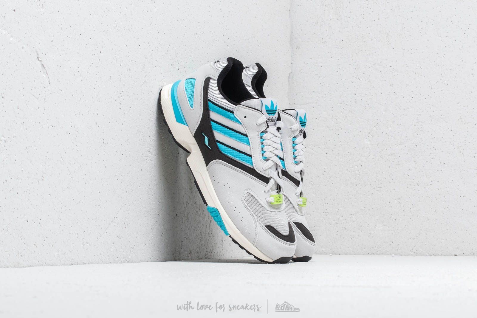 adidas Consortium ZX 4000 Grey One  Core Black  Bright Cyan at a great price 50b32939b