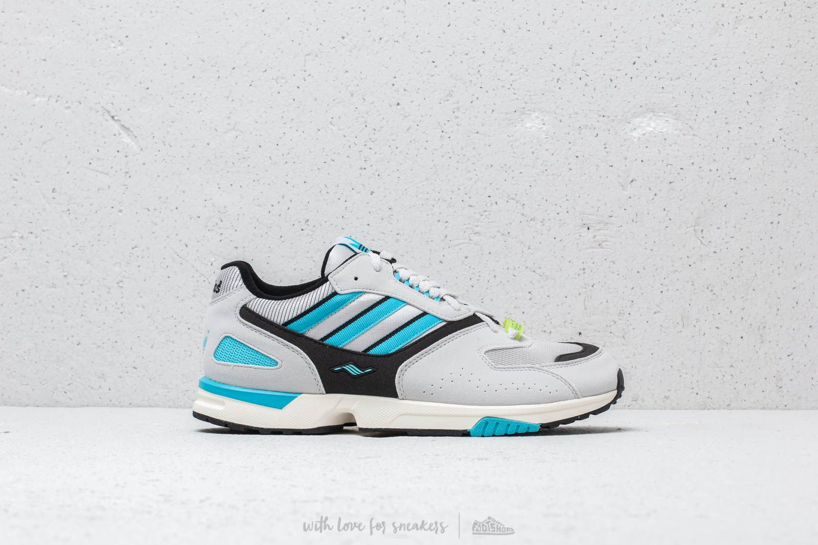 finest selection 537ce ce86f adidas Consortium ZX 4000 Grey One Core Black Bright Cyan at a great price