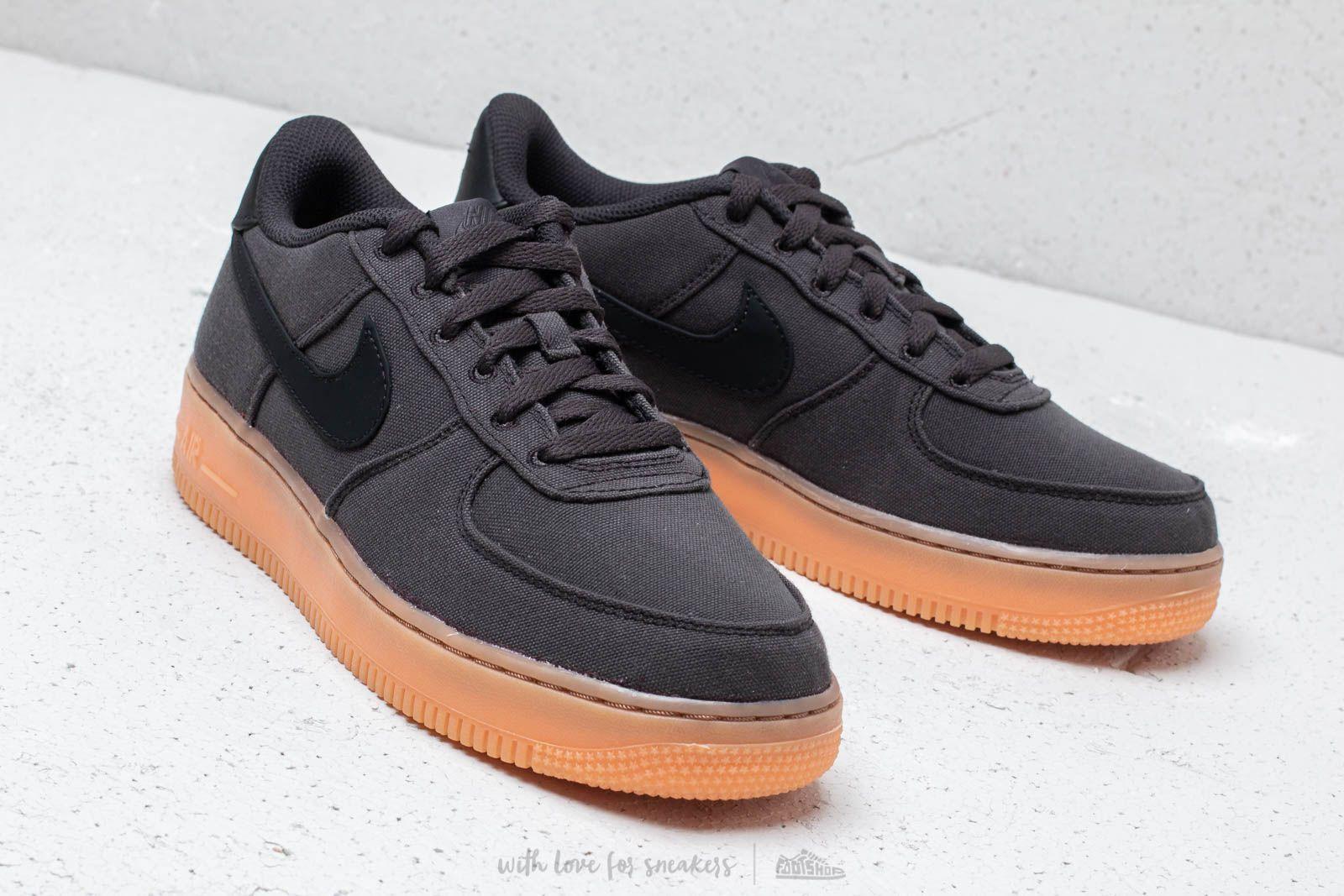 Nike Air Force 1  07 LV8 Style Black  Black-Gum Med Brown at 016bd8aded