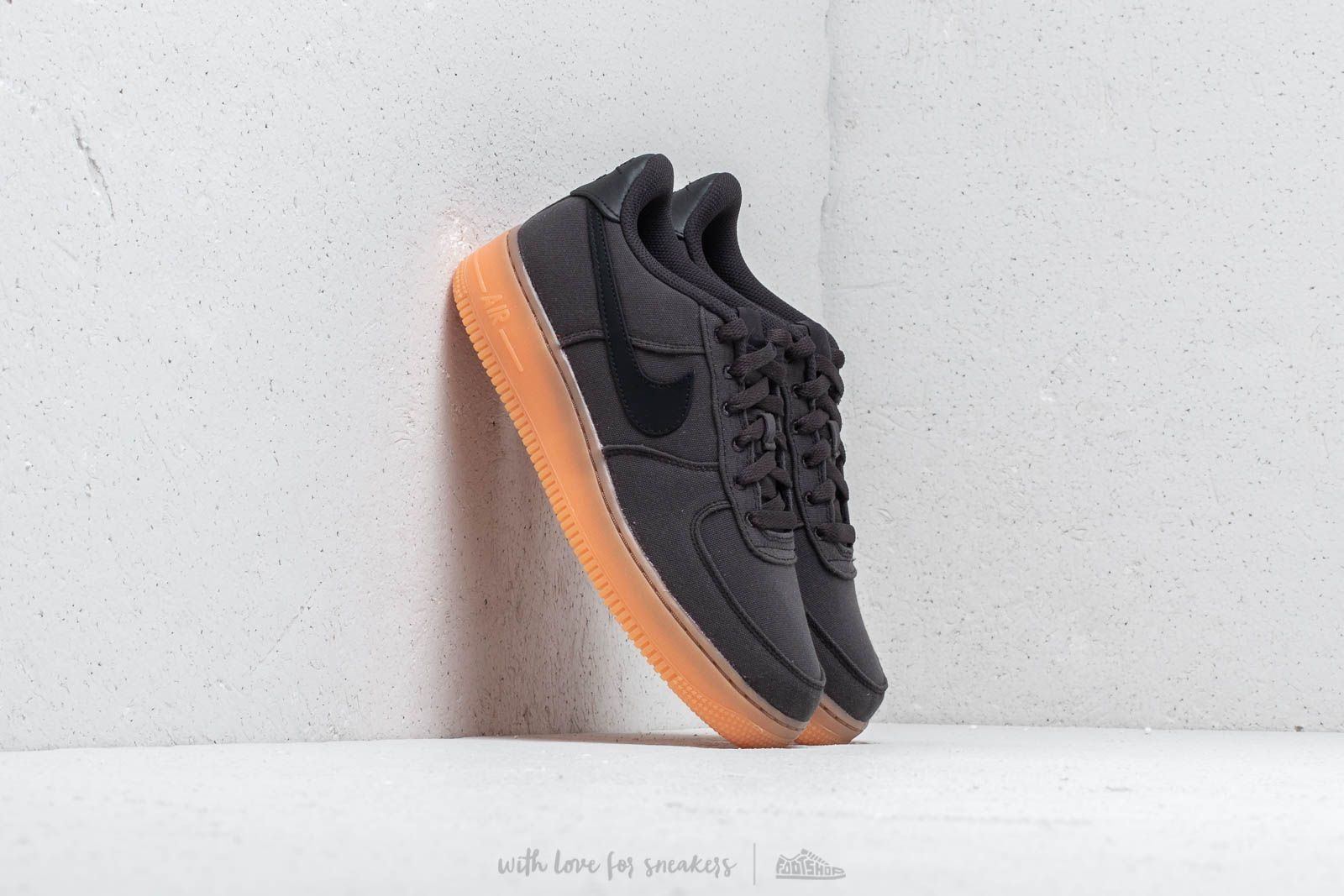 0f594f5e8497 Nike Air Force 1  07 LV8 Style Black  Black-Gum Med Brown