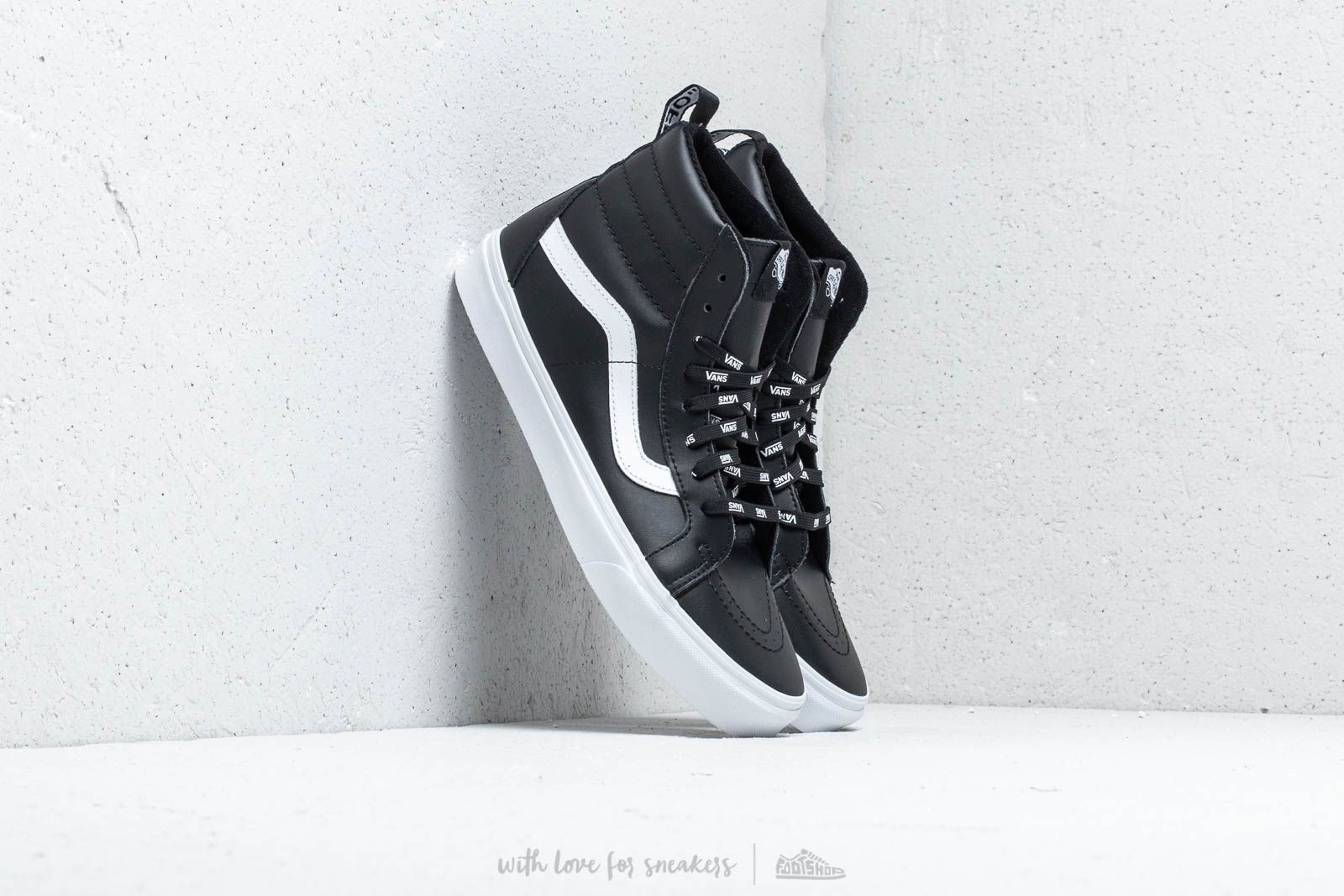 544975b6b32b Vans Sk8- Hi Reissue Of The Wall Webbing Black  Leather at a great price