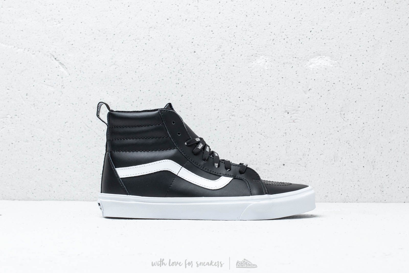 844838df62d40f Vans Sk8- Hi Reissue Of The Wall Webbing Black  Leather at a great price