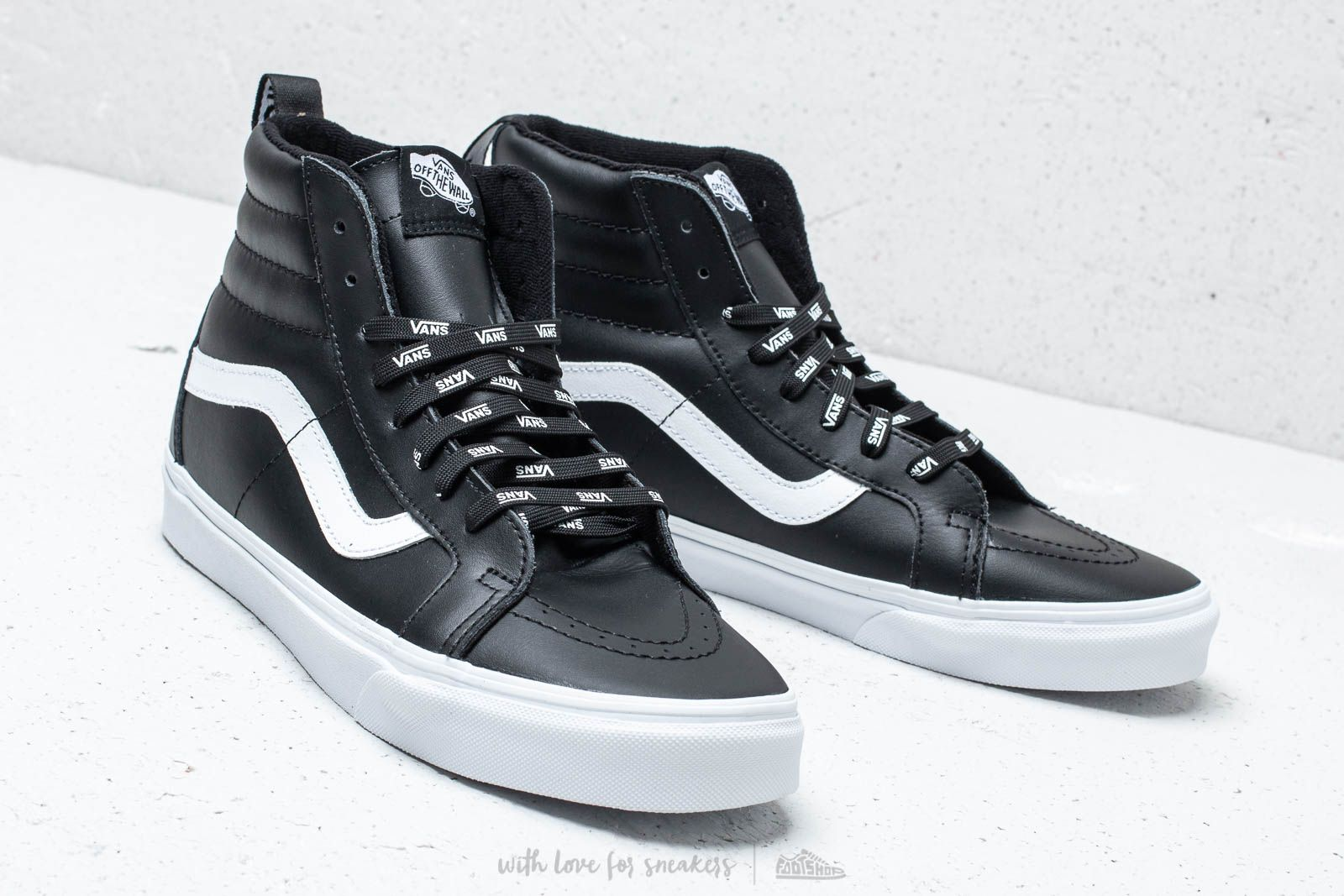 Vans SK8 Hi Reissue (otw webbing) black leather