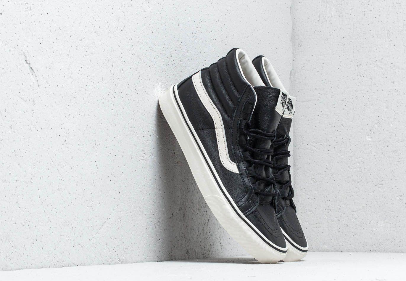 Vans Sk8-Hi Reissue Ghillie (Leather) Black/ Marshmallow EUR 37