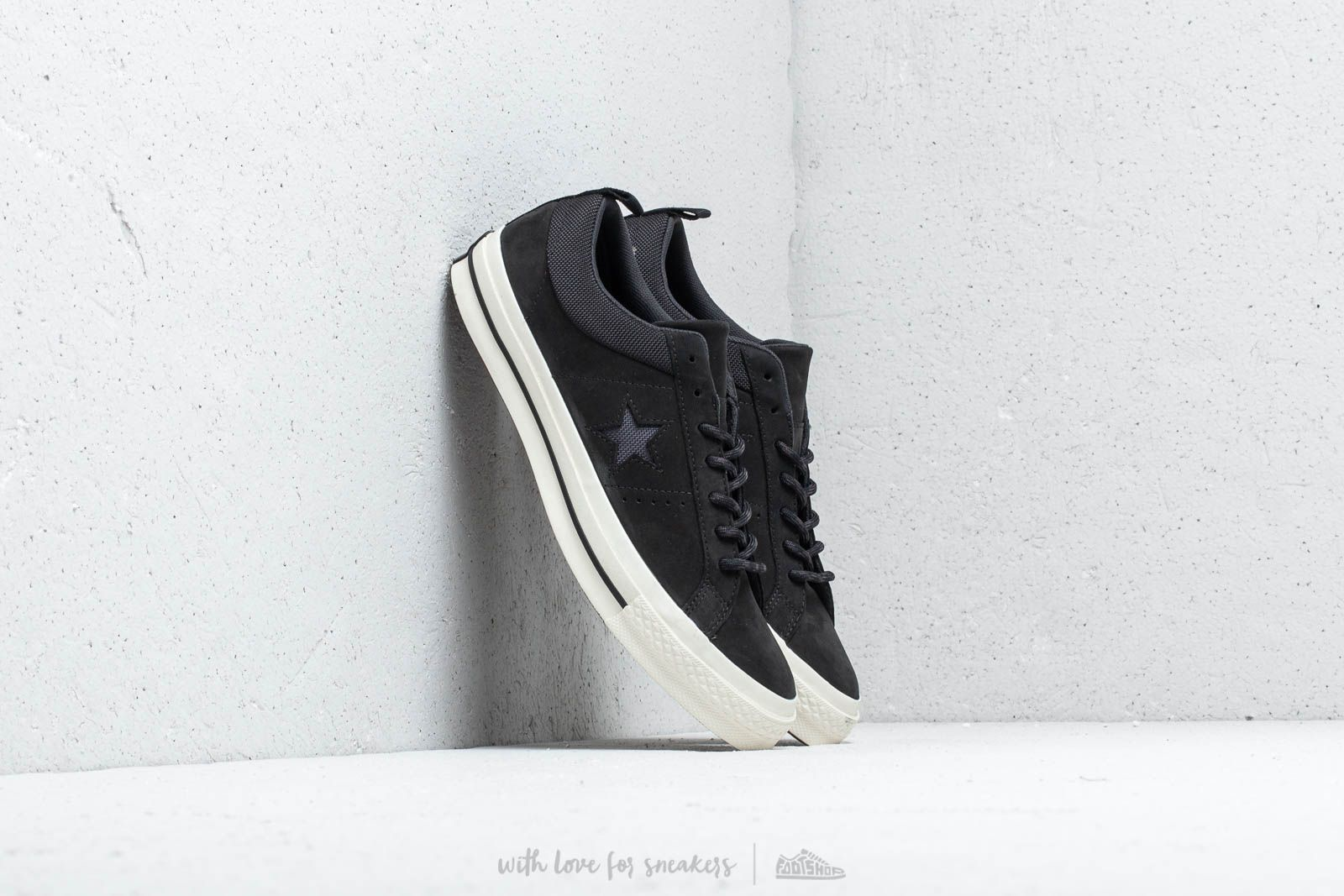 b0179844e01d3d Converse One Star OX Black  Almost Black  Black at a great price 88 €