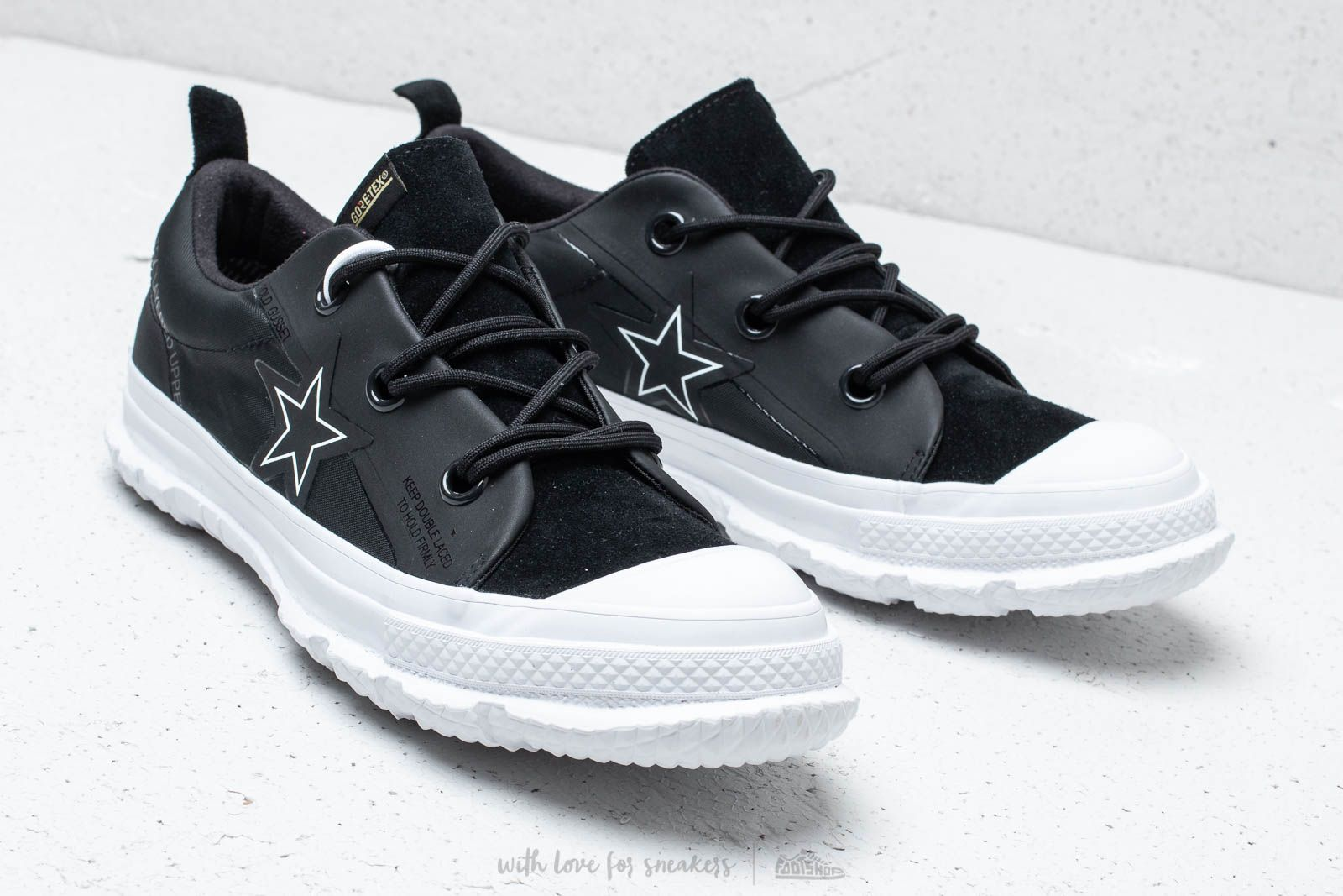 Converse One Star MC18 OX Black  White  White at a great price £121 fa16266b8