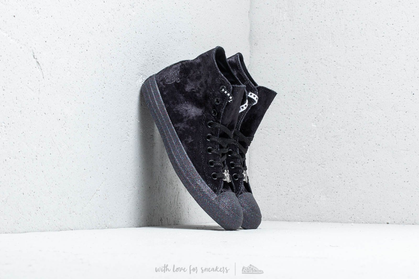 best sneakers a1f08 a6148 Converse x Miley Cyrus Chuck Taylor All Star Hi Black  Silver  White at a
