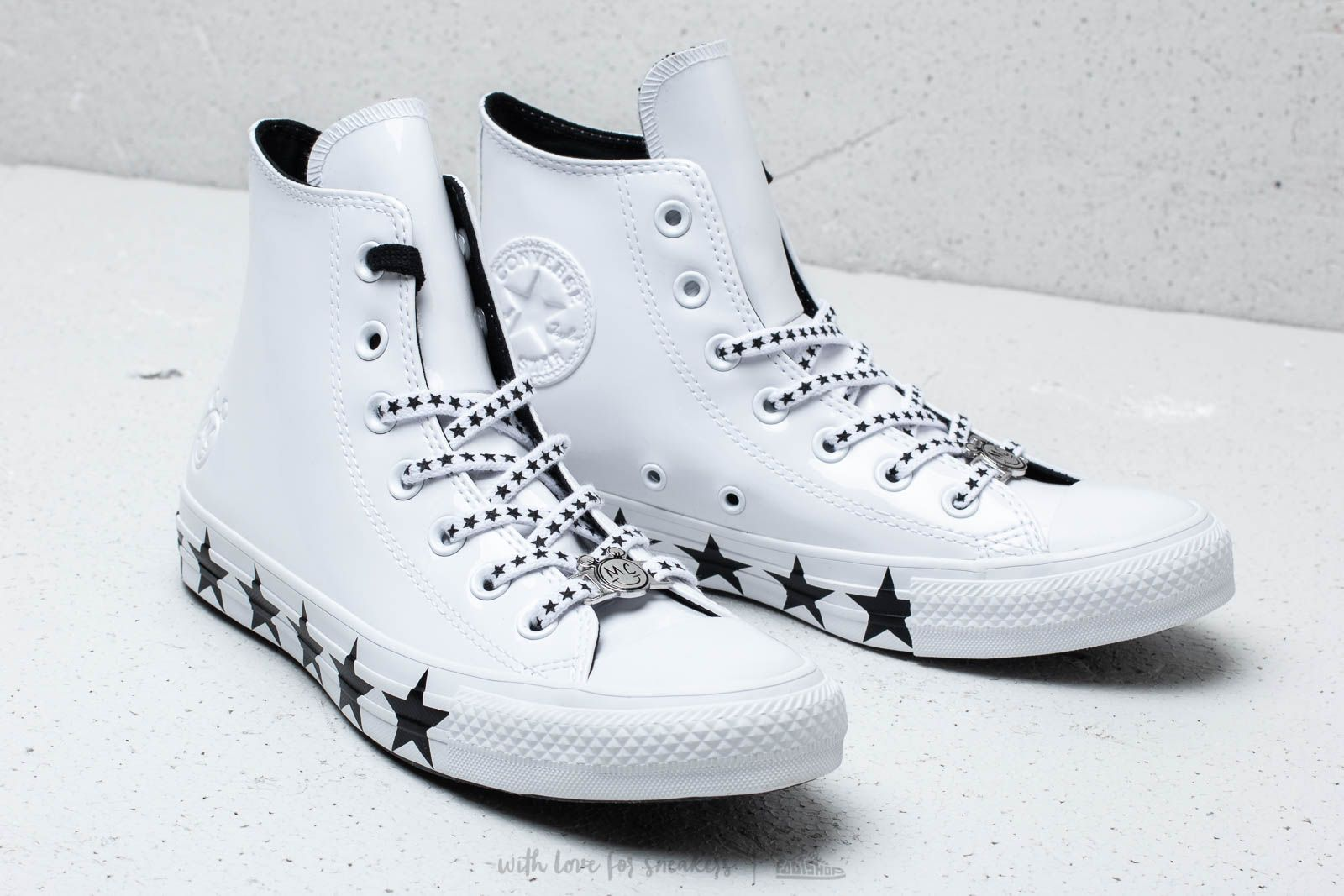 Converse x Miley Cyrus Chuck Taylor All Star Hi White Black