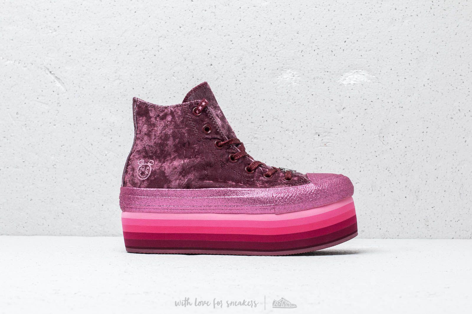 72de087eb2c8 Converse x Miley Cyrus Chuck Taylor All Star Platform Hi Dark Burgundy  Pink  nagyszerű árakon