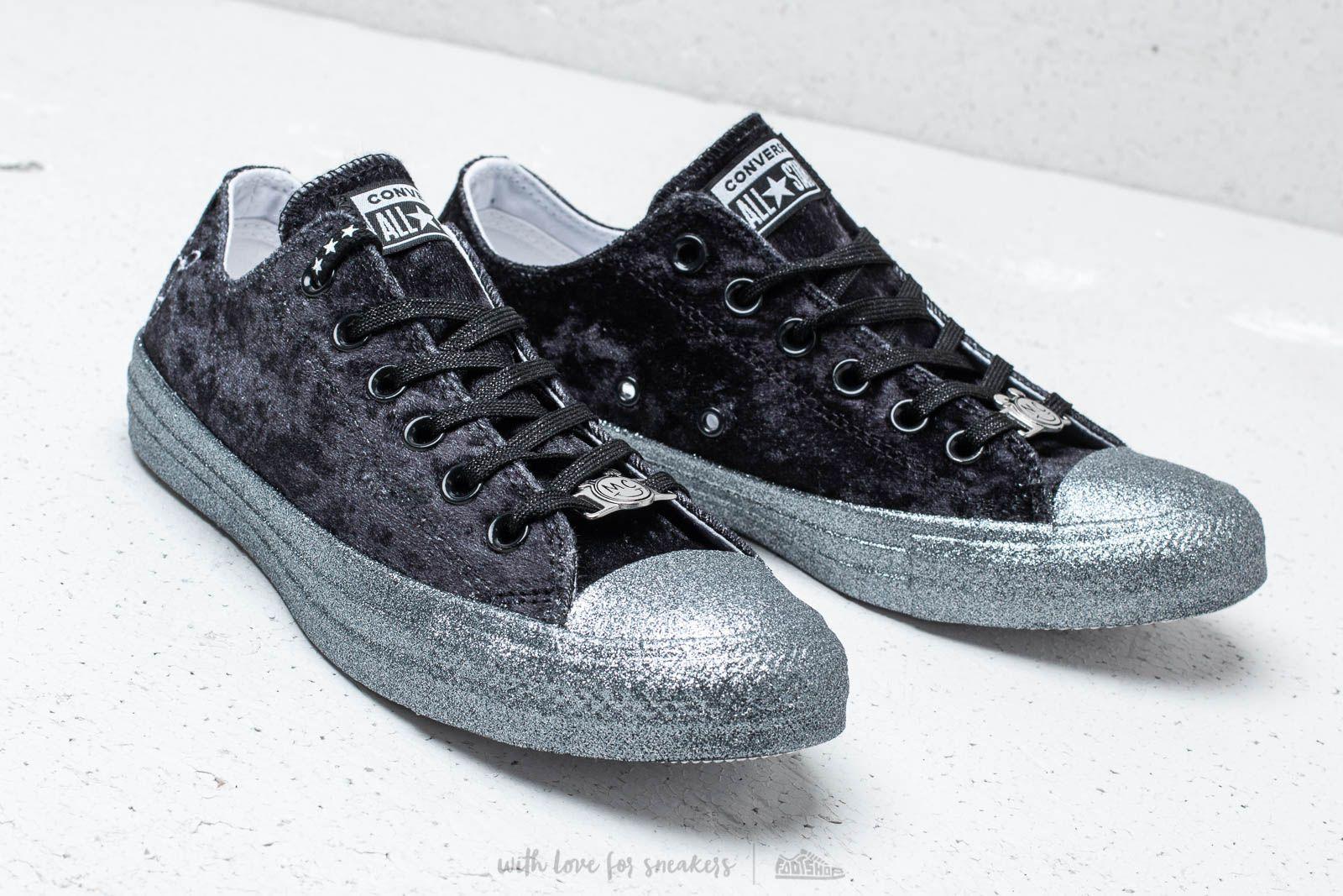 Converse x Miley Cyrus Chuck Taylor All Star Ox Black Silver White | Footshop