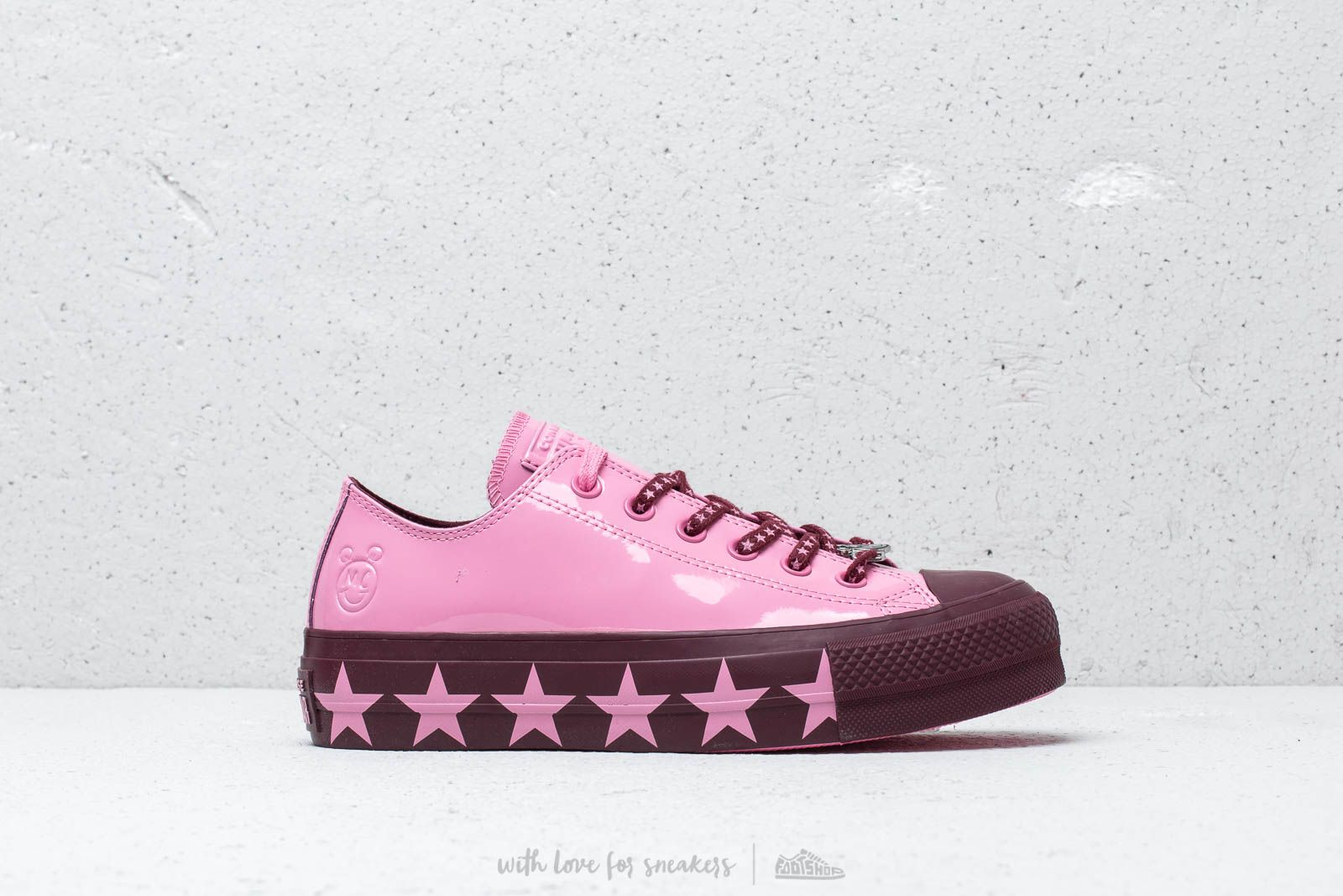 66a87f2b3c6ade Converse x Miley Cyrus Chuck Taylor All Star Lift Ox Pink  Dark Burgundy   Pink