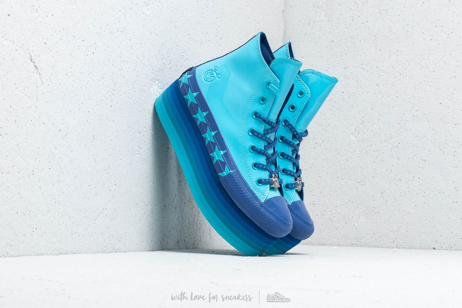 Converse x Miley Cyrus Chuck Taylor All Star Platform Hi Gnarly Blue Blue Gnarly Blue | Footshop