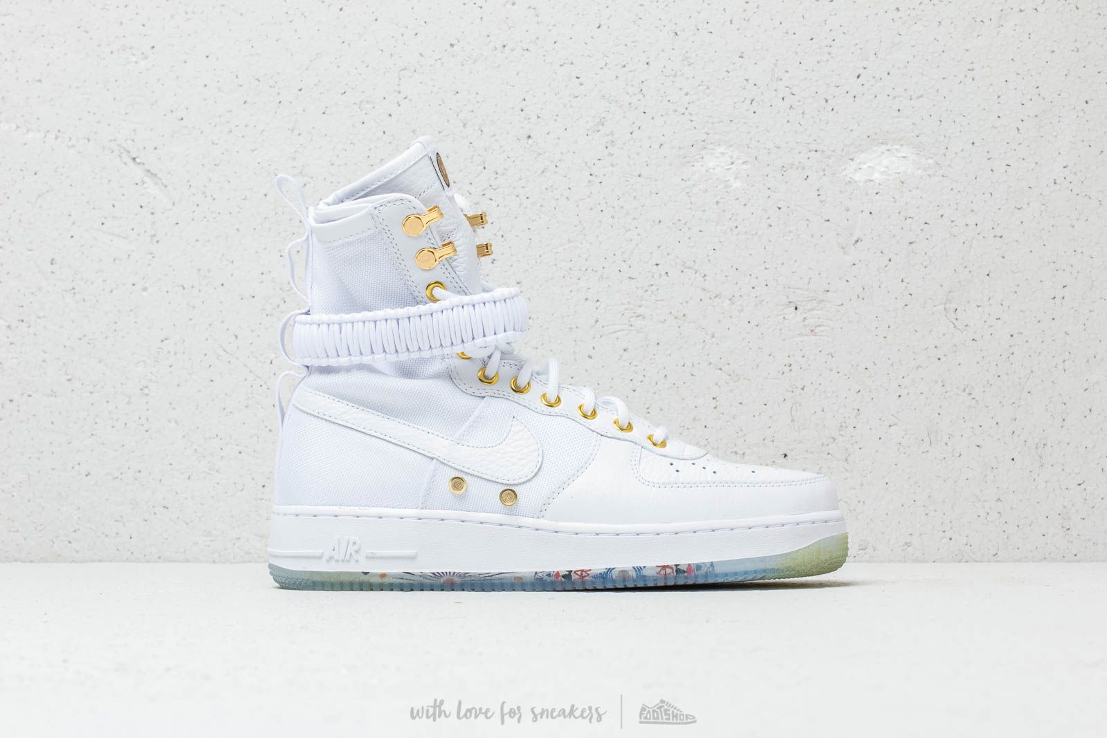 8930340c60dd Nike SF Air Force 1 LNY QS White  White  Metallic Gold at a great