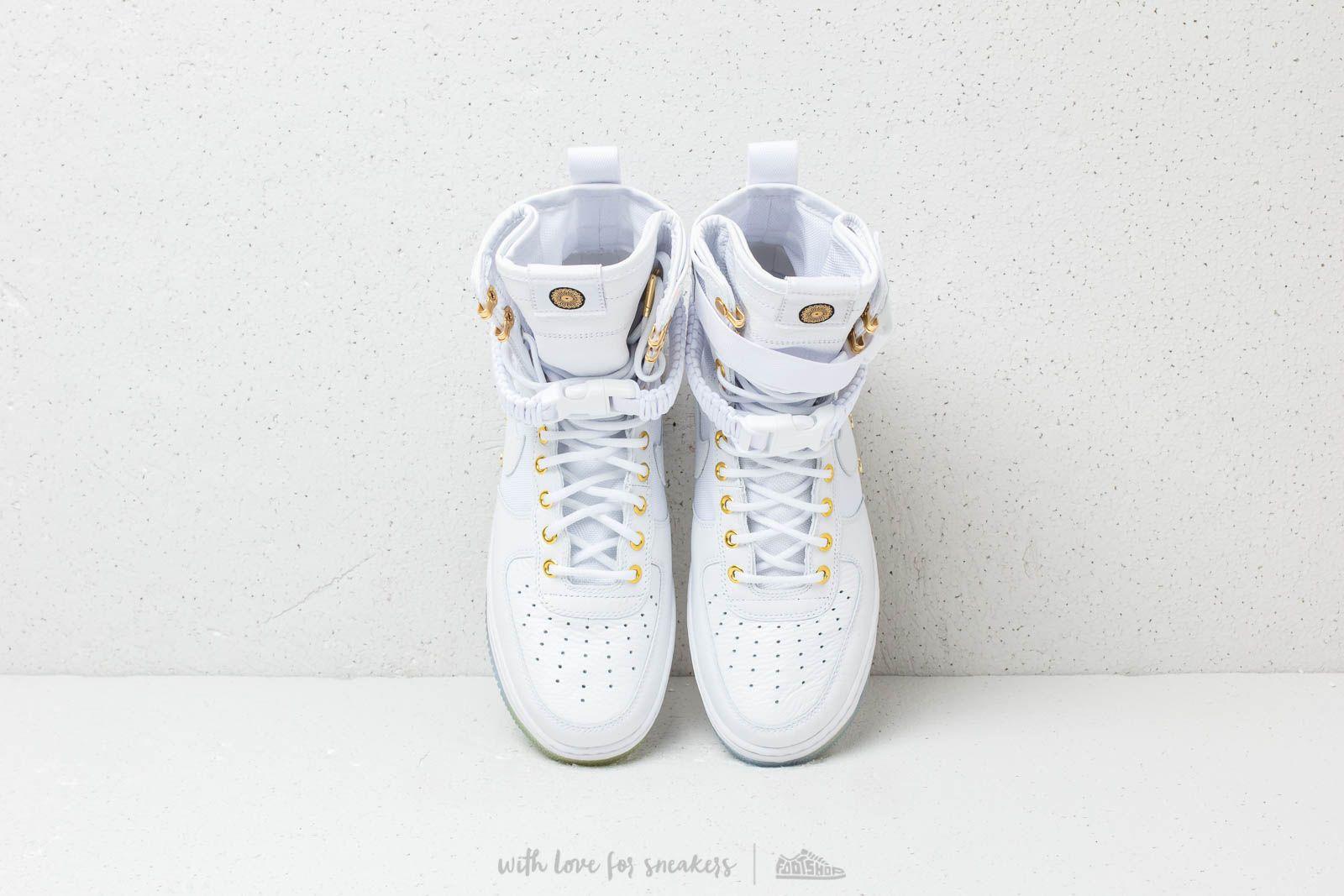 Nike SF Air Force 1 LNY QS White White Metallic Gold | Footshop