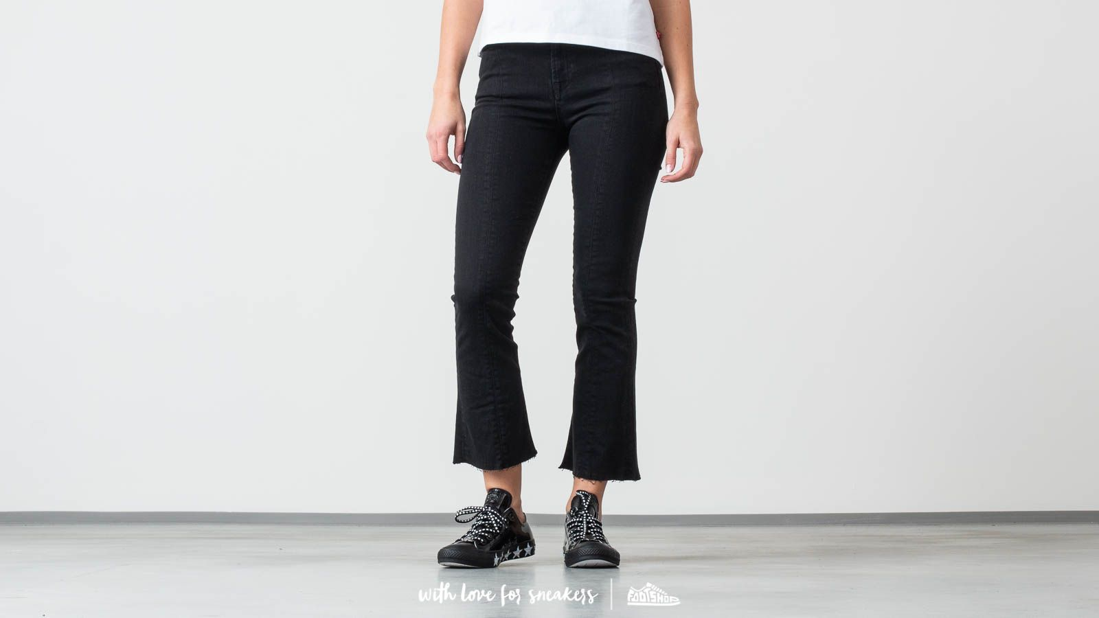 Pantalones SELECTED Lana High Waist Bootcut Jeans Black Denim