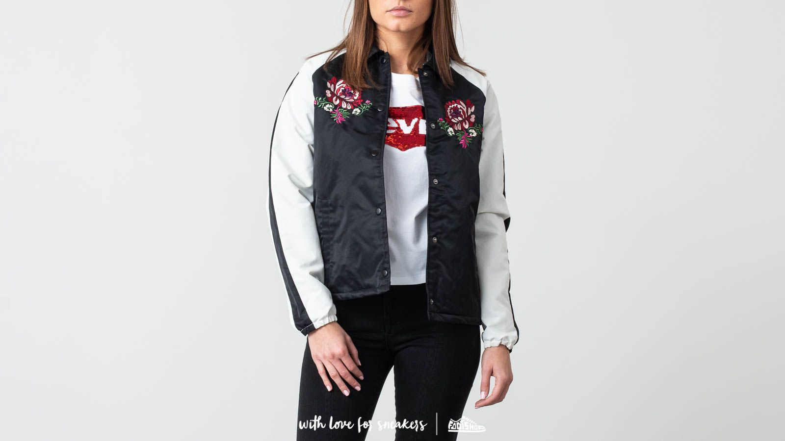 Vans Outshine Thanks Coach Bomber Jacket Black | Footshop