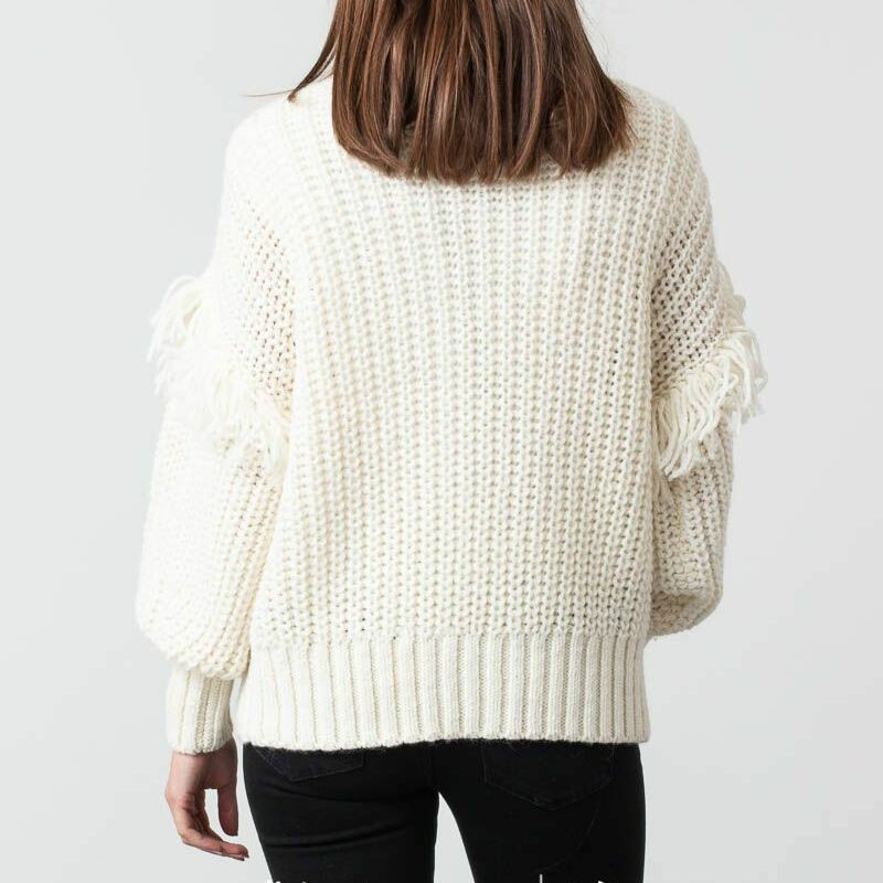 SELECTED Lina Knit Roll Neck Birch, White