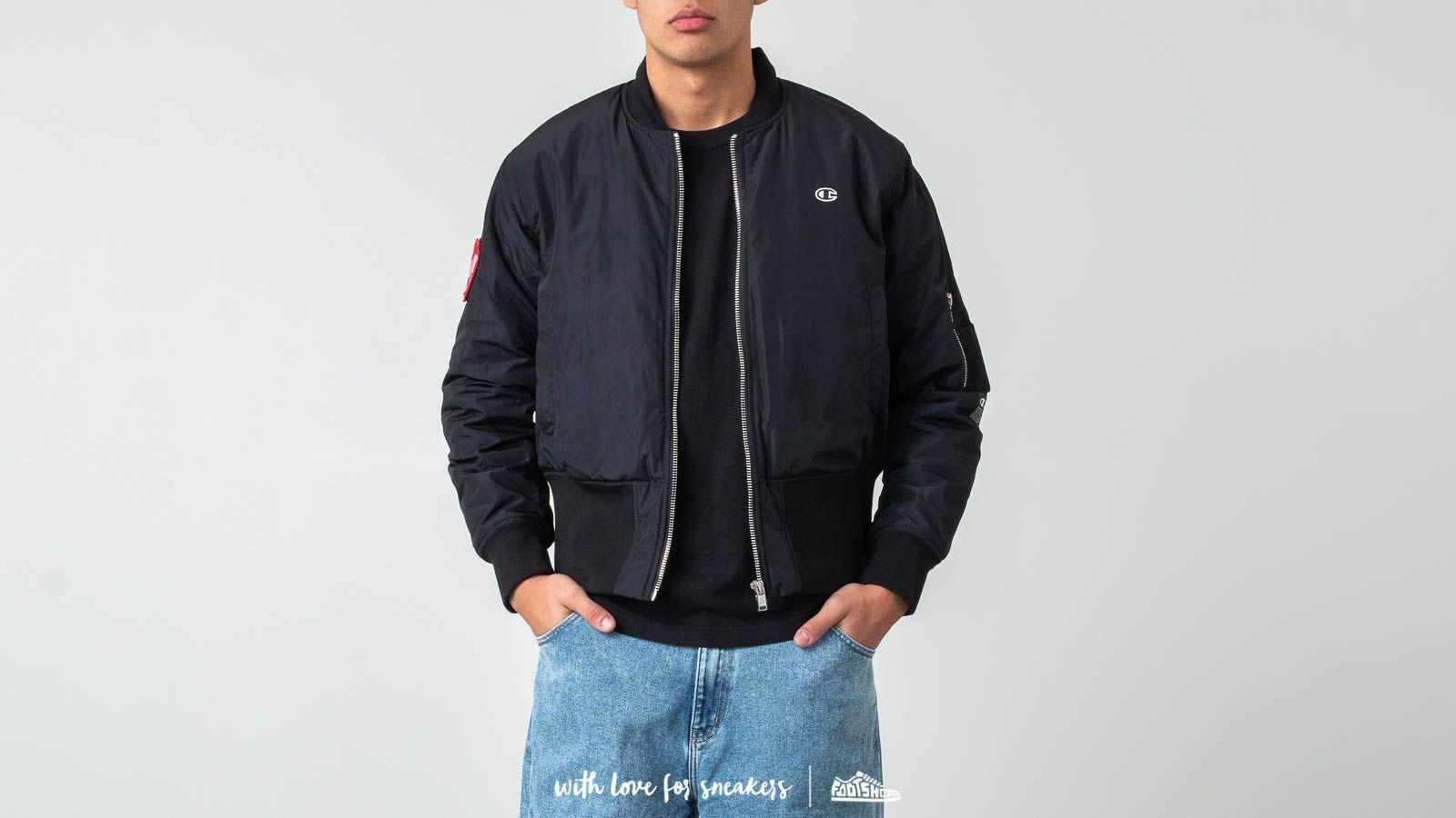 Champion x WOOD WOOD Danny Bomber Jacket Black za skvelú cenu 108 € kúpite na Footshop.sk