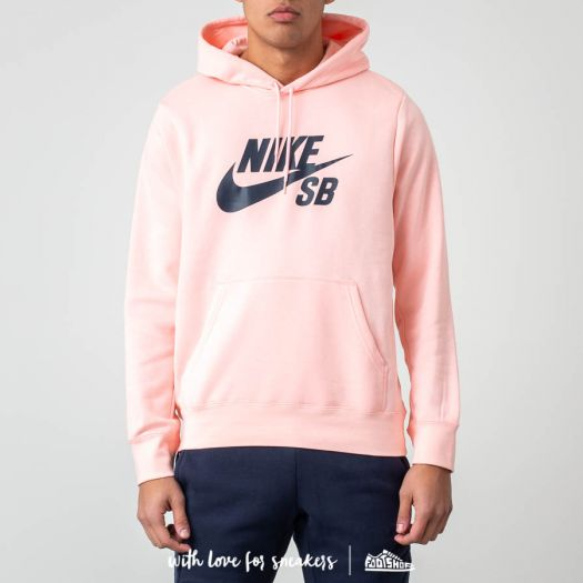 Delicioso Moderar Rosa  Sweatshirts Nike SB Icon Pullover Hoodie Storm Pink/ Obsidian | Footshop