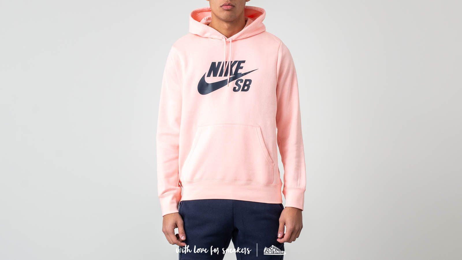 10aa58f02 Nike SB Icon Pullover Hoodie Storm Pink  Obsidian