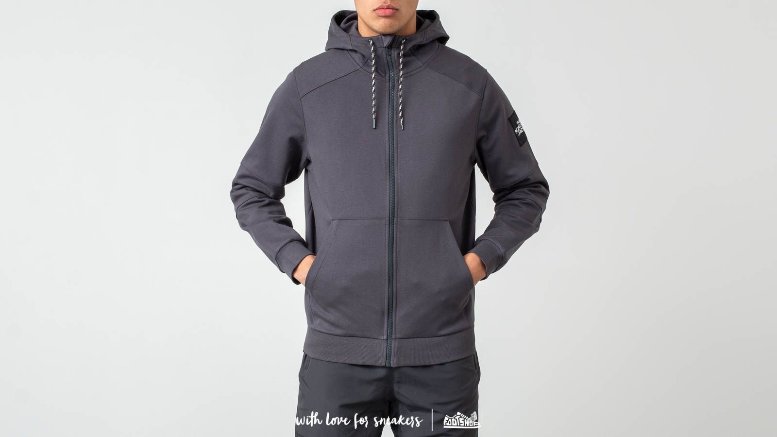 The North Face Fine Full Zip Hoodie Asphalt Grey