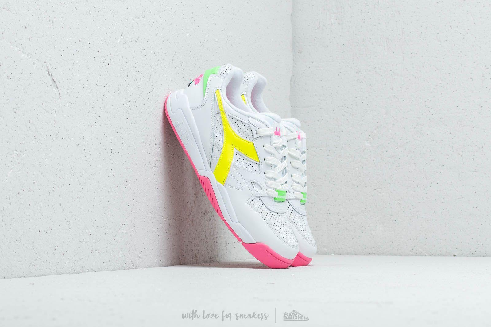 Diadora Rebound Ace Fluo White/ Pink Flulo a prezzo eccezionale 119 € acquistate su Footshop.it