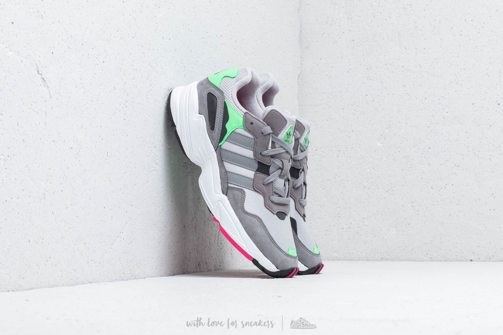 finest selection 03a42 ba416 adidas YUNG-96 Grey Two Grey Three Shock Pink at a great price