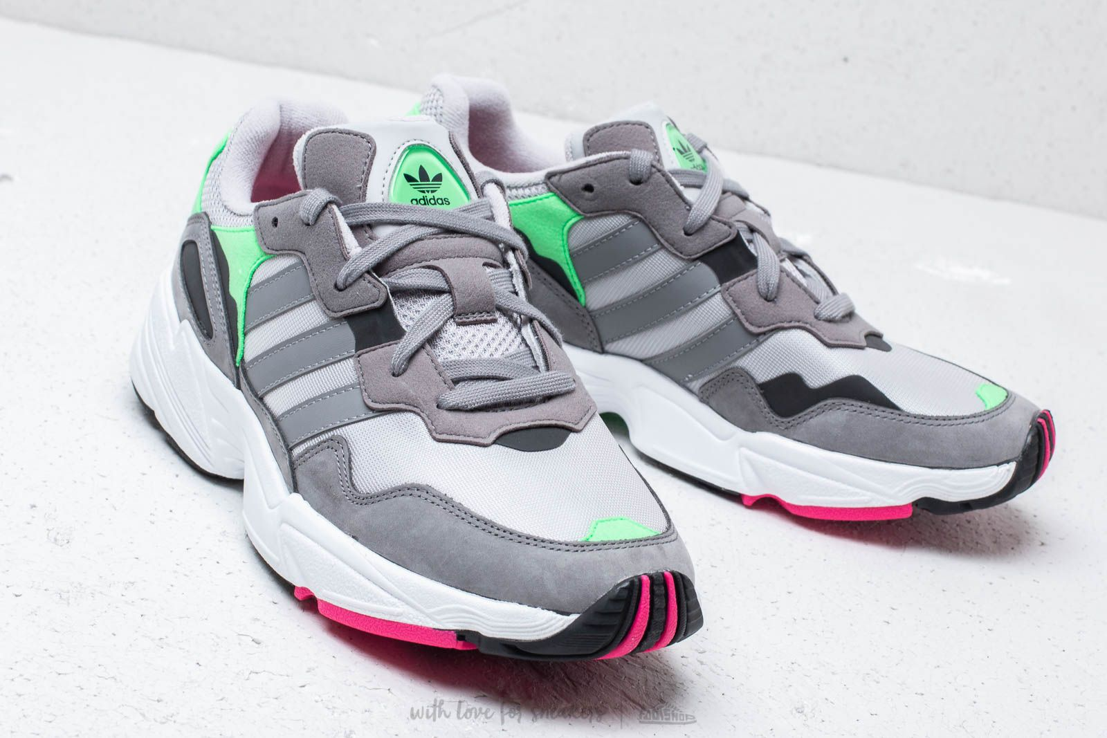 finest selection 97572 cb230 adidas YUNG-96 Grey Two Grey Three Shock Pink at a great price